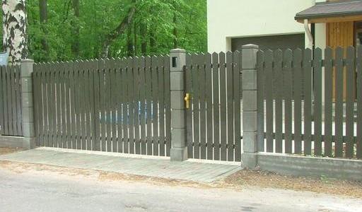 Как подобрать ворота для бетонного забора для коттеджа